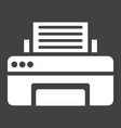 printer solid icon fax and office vector image