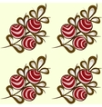 Red berries seamless pattern background vector image vector image