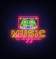 reggae music neon sign reggae design vector image vector image