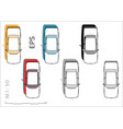 retro old bmw car icons set for vector image