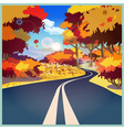 road in autumn vector image