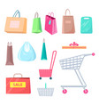 sale collection of bags carts vector image vector image
