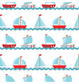 seamless pattern background with children s cute vector image vector image