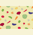seamless pattern vegetables vegan food vector image