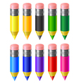 Set colored pencils vector image vector image