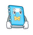 silent education mascot cartoon style vector image vector image