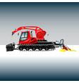 Snowcat 2 vector image vector image