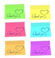 thank you sticker vector image vector image