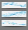 three minimalistic divider wave swoosh set soft vector image vector image