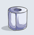 toilet paper in high quality and shadows vector image vector image