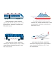 Transport road and air infographic vector image