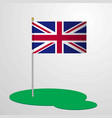 united kingdom flag pole vector image