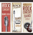 vintage rock banner collection vector image