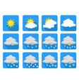 weather icons flat design stock vector image