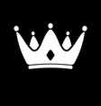 white crown icon symbol of king royal vector image