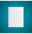 Empty Book Cover Template for Your Text or Images vector image