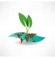 environmental site icon vector image