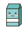 kawaii cartoon milk box vector image