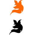 silhouette of a head of fox vector image