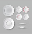 set of dishware vector image
