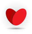 love heart on transparent background vector image