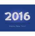 2016 Silver Glitter Digits with Happy New Year vector image vector image