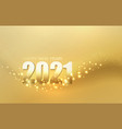 2021 new year abstract shiny color gold light vector image vector image