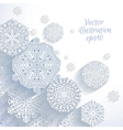 3D Abstract Snowflakes vector image vector image