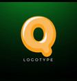 3d playful letter q kids and joy style symbol vector image vector image