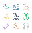 9 shoe icons vector image vector image