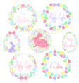 a set of easter wreaths vector image vector image