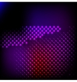 Abstract background colorful lights on black vector image vector image