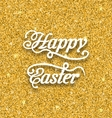 Abstract Easter Card with Hand Written Phrase vector image vector image