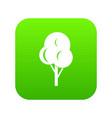 autumn tree icon digital green vector image