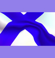 background finnish flag in folds finlyandsky vector image vector image