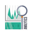 bill cash and chart investment concept vector image vector image