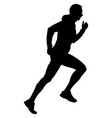 black silhouette male runner vector image vector image