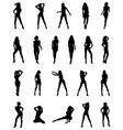 black silhouettes of girls vector image vector image