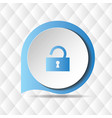 blue unlock icon geometric background image vector image