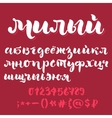 Brush script cyrillic alphabet vector image