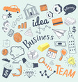 business idea freehand hand drawn doodle vector image