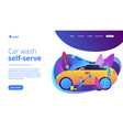 Car wash service concept landing page