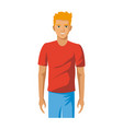 cartoon of a friendly young man in vector image