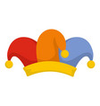 cheerful jester icon flat style vector image vector image