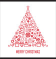 christmas greeting card 2 vector image vector image