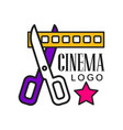 cinema logo template creative design vector image vector image