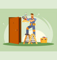 colorful of a male electrician vector image vector image