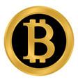 crypto coin bitcoin icon on white vector image