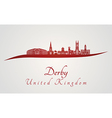 Derby skyline in red vector image vector image