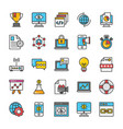 digital and internet marketing icons set 2 vector image vector image